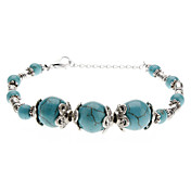 Oude Zilveren Turquoise armband