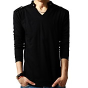 Men's Basic Cotton V-neck T-shirt