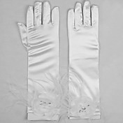 Wonderful Satin With Flower Opera Length Bridal/Party/Evening Gloves