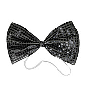 Black Sequins Bow Halloween Cravat(1 piece)
