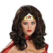 halloween paryk inspireret af sort Wonder Woman