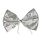 White Sequins Bow Halloween Cravat(1 piece)