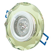 3W LED Crystal Ceiling Light with 3 LEDs in Round Feature