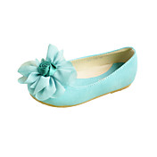 Nydelig Kids 'Leatherette flat hæl Flats med chiffon Flower Party / Evening Sko