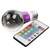 E27 5W 325LM RGB Light Crystal LED Ball Bulb (110-240V)