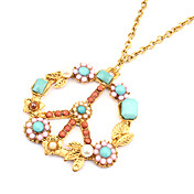 Gorgeous Alloy With Flower Shaped Pendant Women's Necklace