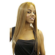 Lace Front Long Blonde Straight High Quality Synthetic Japanese Kanekalon Wigs