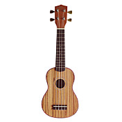 (Zebrano) Plywood Zebrano Soprano Ukulele with Bag/String/Picks