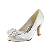 Satin Stiletto Heel  Pumps With Bowknot Wedding Shoes (More Colors)