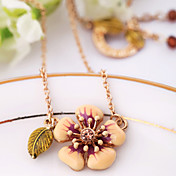 Women's Flower Leaf Choker