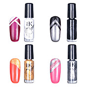 4pcs BK Multi-Color Nail Art Top Coat decorativo polaco (Color 5ml, N º 1, N º 4)