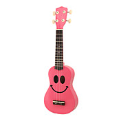 Smile - (Red) Plywood Basswood Soprano Ukulele with Gig Bag and Picks