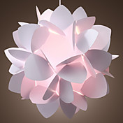 60W artistieke hanglamp met 1 Licht in White Floral Design
