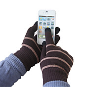 Colored Stripes Woolen Touch Screen Gloves(Assorted Color)
