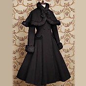 Langrmet Velvet Prinsesse Classic Lolita Coat med Bow