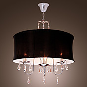 Elegant Ceiling Light with 3 Lights in Black Shade