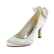 Satin Stiletto Heel Pumps Med bowknot / Sequin Bryllup Sko (Flere farger)