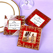 Imperial Asian Glass Wedding Coasters