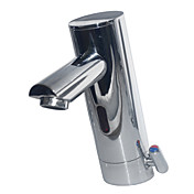 Contemporary Sensor Hands Free Chrome Finish Bathroom Sink Faucet(Hot and Cold)