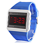 Men's Water Resistant Style Silicone LED Digital Wrist Watch (Assorted Colors)