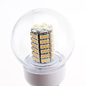 E27 7W 120x3528 SMD 580-630LM 2700-3500K Warm White Light LED Ball Bulb (220-240V)