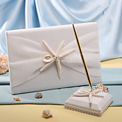 Starfish & Sea Shell Beach Themed Wedding Guest Book and Pen Set