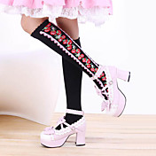 Strawberry Black Pattern cotone Paese Lolita Calze