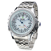 Analog - Digital Dual Display White Dial Wrist Watch