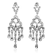 Charming Alloy Crystal Irregular Chandelier Earrings