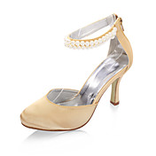 Satin Stiletto Heel Closed Toe / Pumps With Pearl Wedding / Party Evening Shoes (More Colors Available)