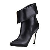 Unique Leatherette Stiletto Heel Ankle Boots With Zipper Party / Evening Shoes