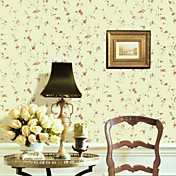 Country Style Floral PVC Wall Paper 1301-0001