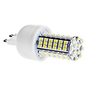 G9 5W 102x3528 SMD 400-420LM 6000-6500K Natural White Light LED Corn Bulb (110V/220V)