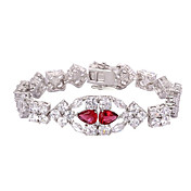Alloy Plating Platinum With Crystal/Cubic Zirconia Women's Bracelet(More Colors)