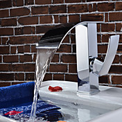 Contemporary Waterfall Bathroom Sink Faucet(Chrome Finish)