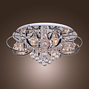 20W Elegant Crystal Flush Mount Light with 8 Lights