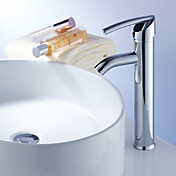 Elegant Brass Bathroom Sink Faucet - Chrome Finish