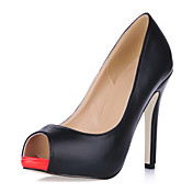 Leatherette Stiletto Heel Peep Toe Sandals / Pumps Party / Evening Shoes