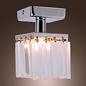 Crystal Semi Flush Mount with 1 Lights
