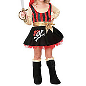 Adorable Little Pirate Girl Kids Costume