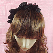 Handmade Black Chiffon Classic Lolita Headband