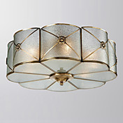 Floral Semi Flush Mount with 6 Lights