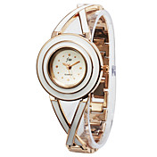Gorgeous Alloy Round Glass Quartz Women's Watch(More Colors)