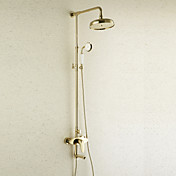 Antique Style Ti-PVD Finish Brass Shower Faucets with 200 x 200mm Shower Head + Hand Shower