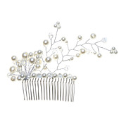 Gorgeous Alloy With Imitation Pearl Women's Hair Combs