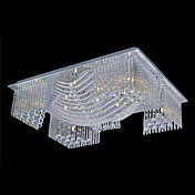 Crystal Beaded Ceiling Light with 9 LEDs in Warm White Source (G4 Base)