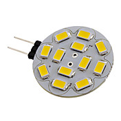 G4 6W 12x5730SMD 550-570LM 2700-3000K Warm White Light LED Spot Bulb (12V)