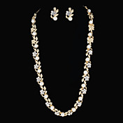 Stylish Alloy With Rhinestone / Imitation Pearl Women's Jewelry Set Including Necklace,Earrings
