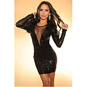 Women's Stylish Sequins Backless Dress(Bust:86-102cm Waist:58-79cm Hip:90-104cm length:86cm)