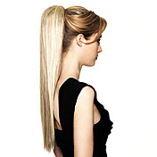 Top Grade Synthetic Long Straight Blonde Ponytail
